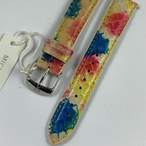 Michele Snakeskin Multi Color  Watch Band 18 MM